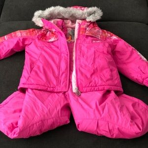4T Zero Xposur Girls Snow Bib & Snow Jacket Set